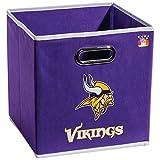Franklin Sports NFL Minnesota Vikings Fabric Storage Cubes – Made To Fit Storage Bin Organizers (11×10.5×10.5″)