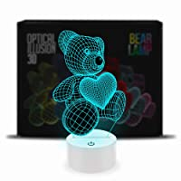 Optical Illusion 3D Lamp 7 Colour Changing Teddy Bear