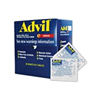 Advil WL0151-50 Ibuprofen Pain Relief Tablet, 200mg, Standard, Blue/Red (Pack of 50)