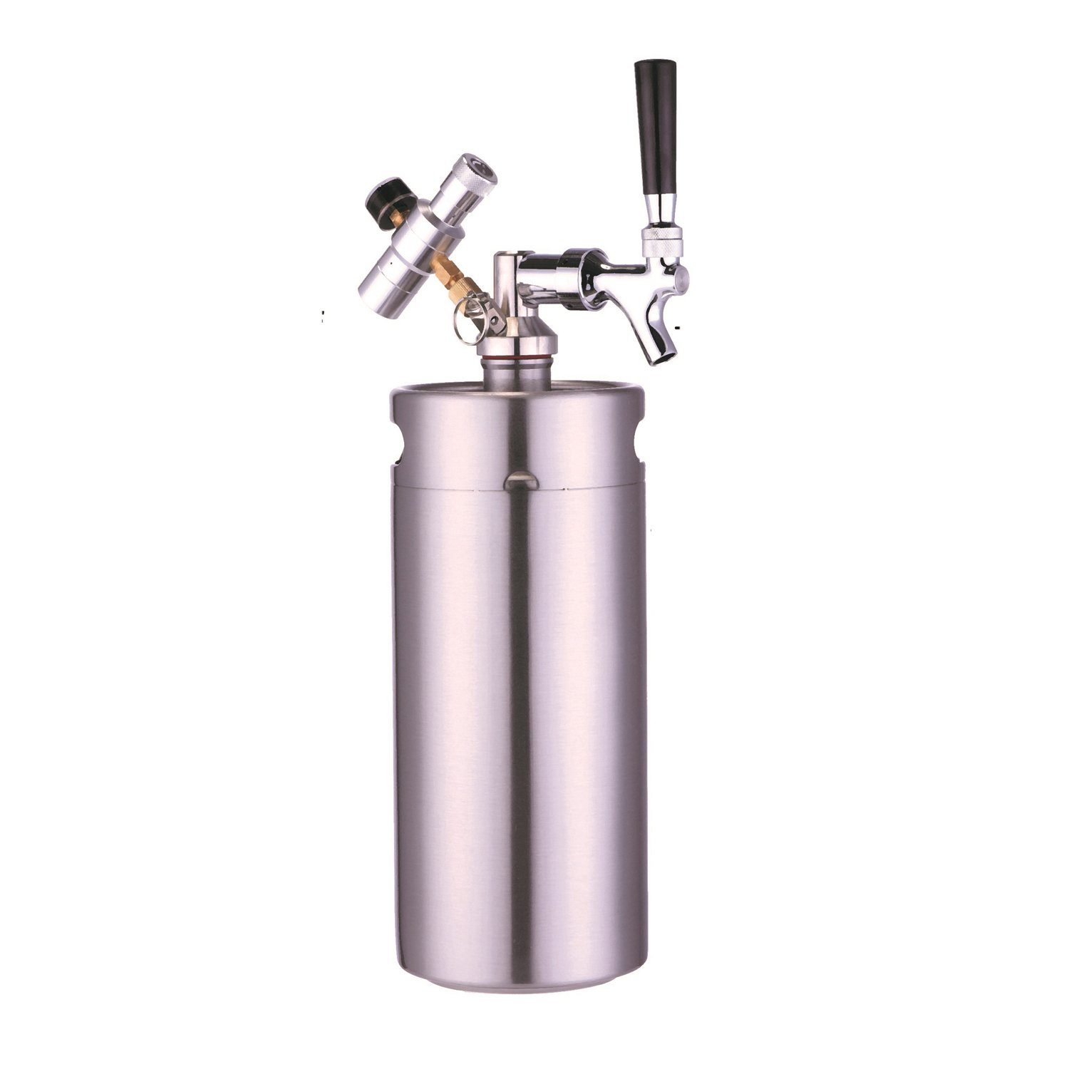 HAN-MM 128 Ounce Homebrew Keg System Kit for Home Brew Beer - with a HAN-MM Beer Dispensor, HAN-MM Mini CO2 Regulator and a HAN-MM 128 Ounce Stainless Steel Keg