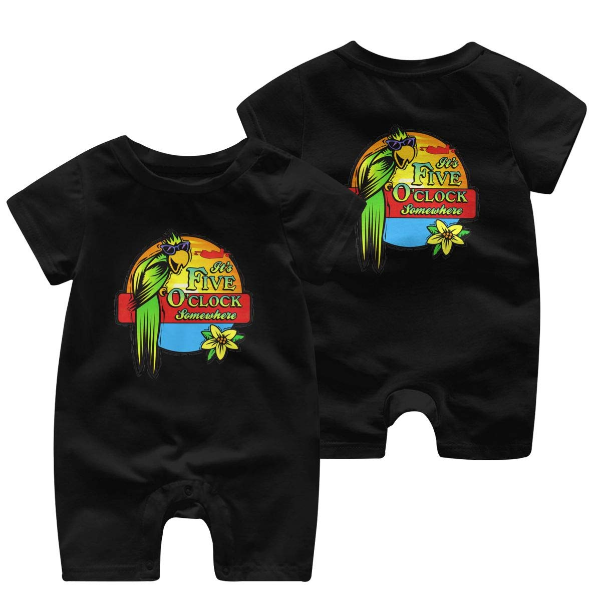 HGJLTY Jimmy Buffett Country Baby Jumpsuit Boys Girls 100/% Cotton Short Sleeve Rompers Double Print