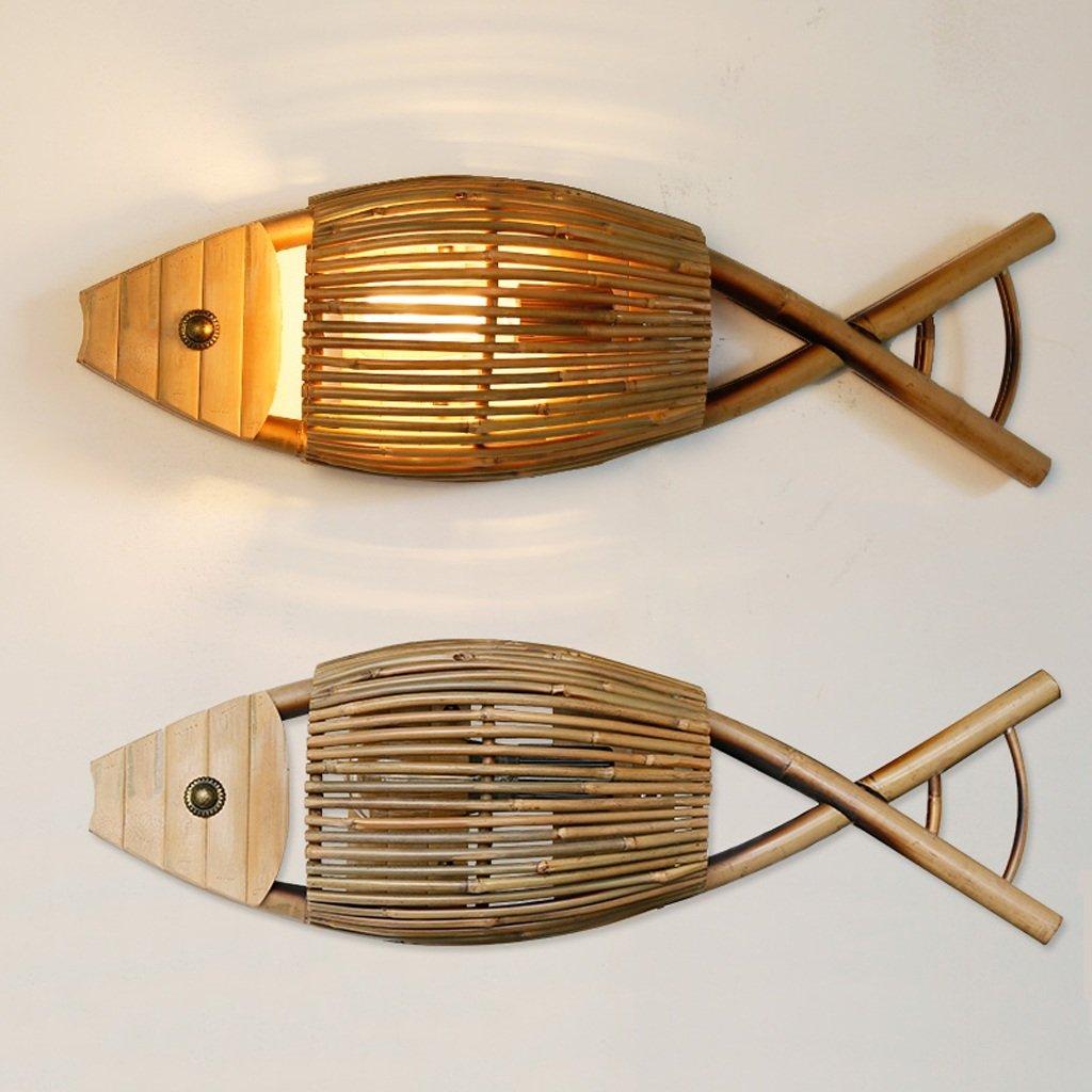 Modeen 64 cm Simple Creativo Pescado a la Parrilla Luz de ...
