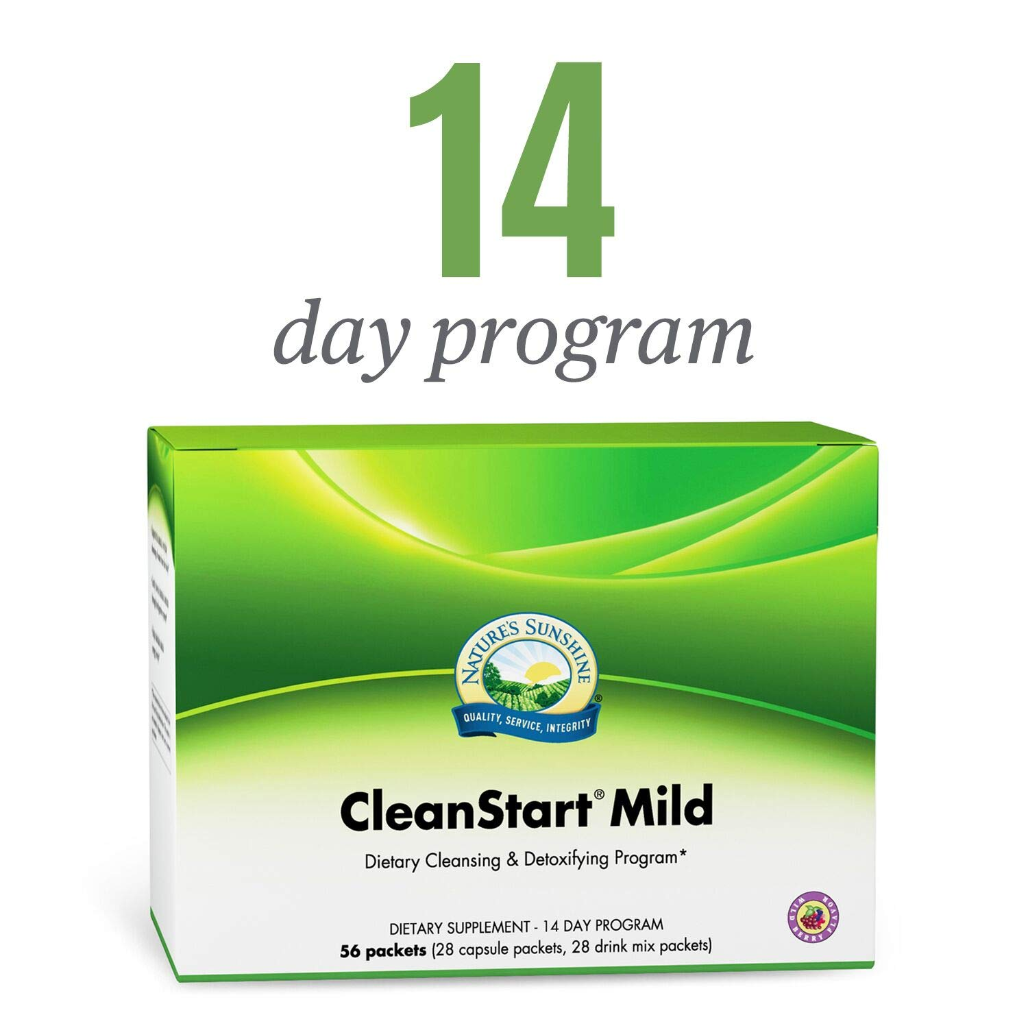Nature's Sunshine CleanStart Mild, 56 Packets | Powerful Herbal Detox That Supports Natural, Everyday Cleansing of Waste from The Body