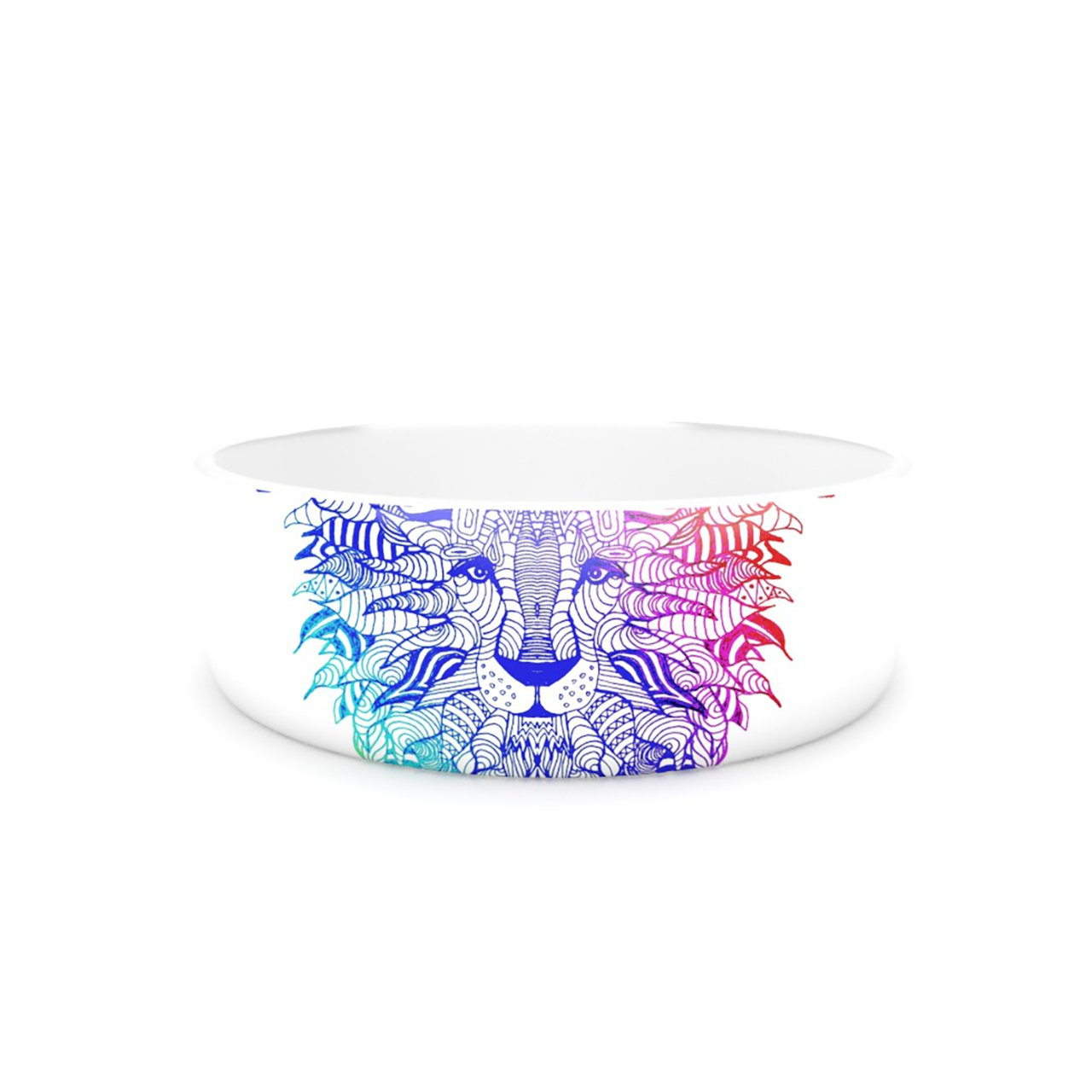 Kess InHouse Monika Strigel Rainbow Lion  Pet Bowl, 7-Inch