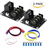 TopDirect 2 Pack Heat Bed Power Module Add-on Hot Bed Power Expansion Board MOS Tube High Current Load Module for 3D Printer