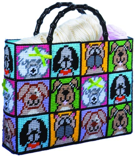 Design Works Plastic Canvas Kit - Dog Tote Bag