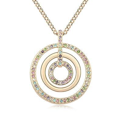 Crystal Fashion Necklace Girls Encrusted Diamante Pendant Ladies Kids Costume UK