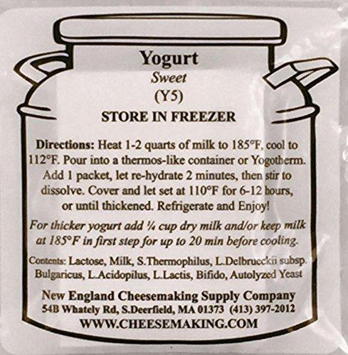 Sweet Yogurt (Yogurt (Sweet) Direct Set Culture, 5-Pack)