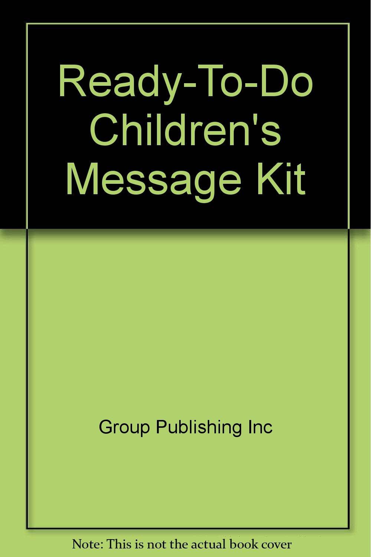 Ready-To-Do Children's Message Kit: Amazon co uk: Group