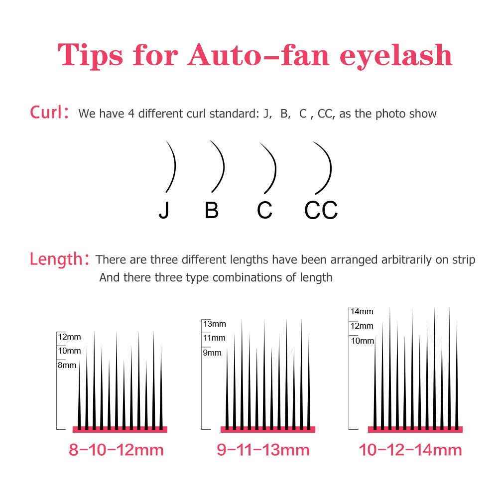 36514da48e7 Amazon.com : NAGARAKU Eyelash Extensions Easy fan lash Russian eyelash  Volume lashes Auto fans 2D-6D Mixed Length In One Line Faux Mink Eyelash  0.03mm ...