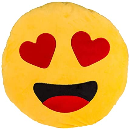 Amazon.com: Gadget and Bazaar Emoticon Cushion 45 x 45 cm ...