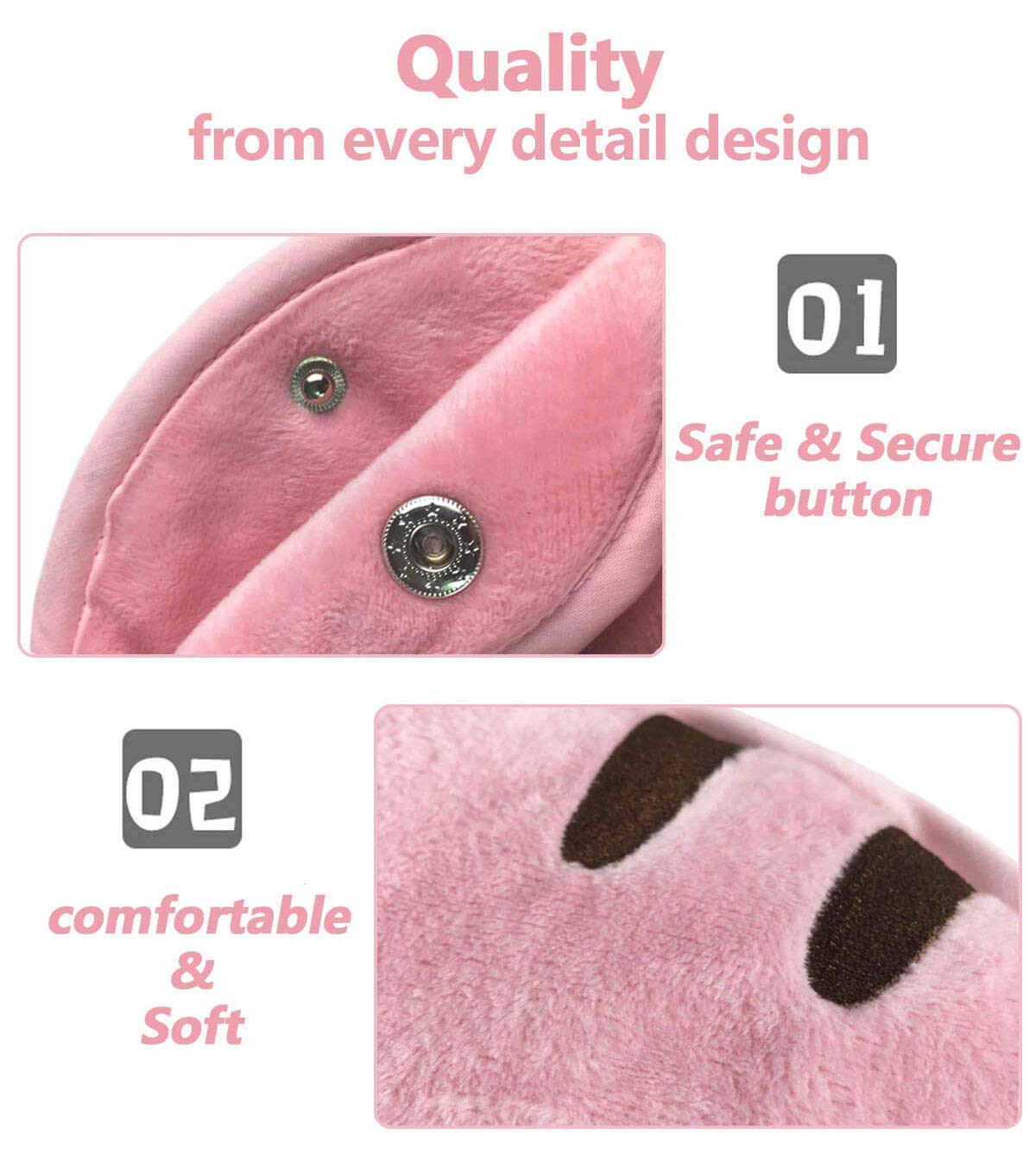 Happy cherry Funda de Seguridad para cintur/ón de Seguridad para ni/ños con arn/és de Hombro Ajustable y Clips para cintur/ón de Seguridad