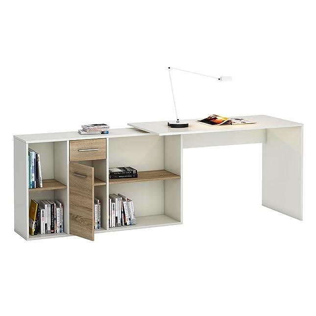 Winkelschreibtisch selber bauen  Schreibtisch Eckschreibtisch Computertisch DIEGO, in Sonoma Eiche ...