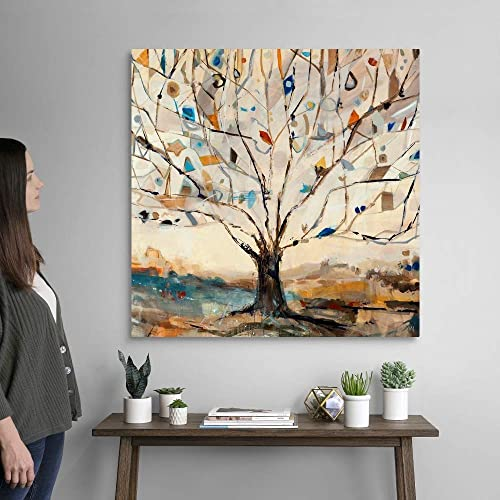 Merkaba Tree Canvas Wall Art Print