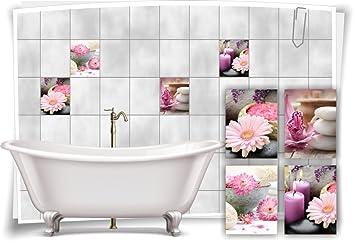 Medianlux Fliesenaufkleber Fliesenbild Blumen Orchidee Spa