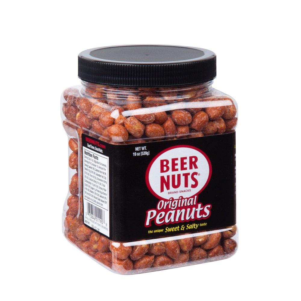 BEER NUTS Original Peanuts   19 oz. Jar - Sweet and Salty
