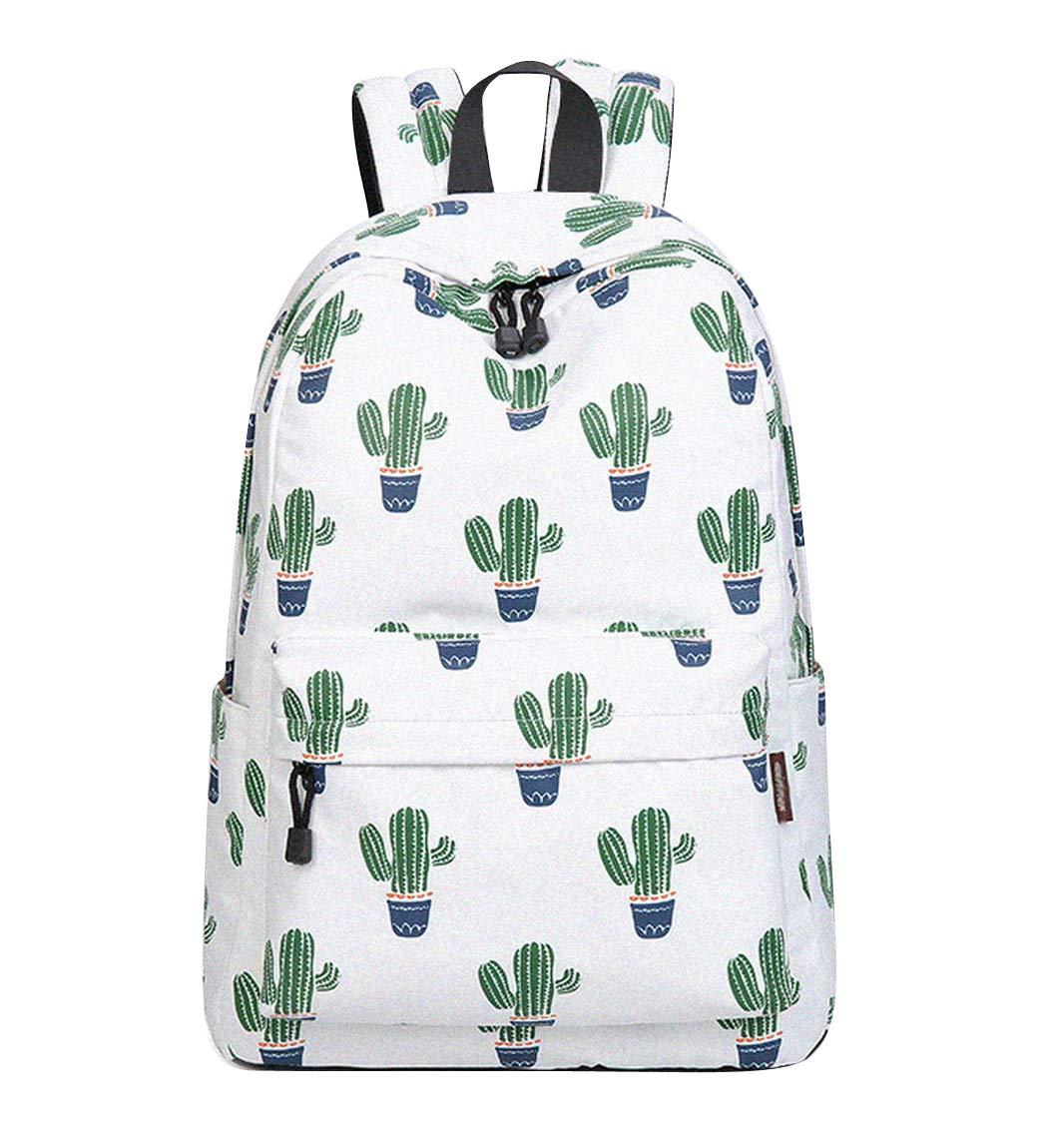 achat Joymoze Sac à dos mignon imperméable pour l'école pour garçons et filles Sac à main léger et chic imprimé Cactus 844 pas cher prix