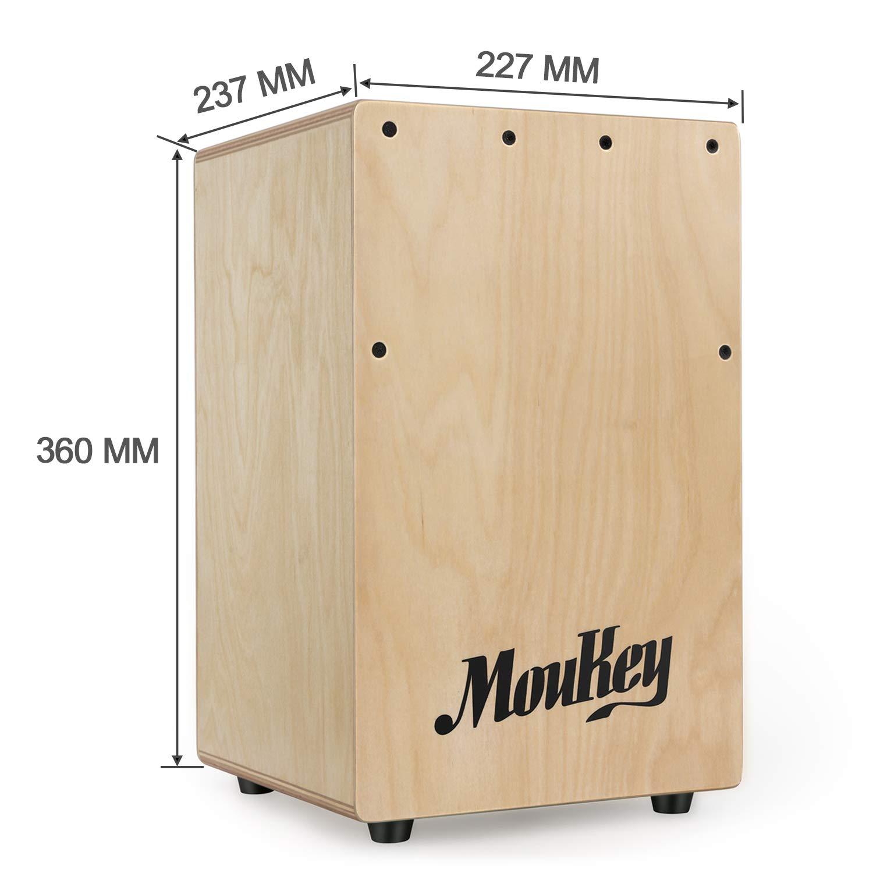 Moukey Kids Cajon DCD-1K Wooden Small Mini Cajon Drum Box with Bag, Birchwood Percussion String by Moukey (Image #2)