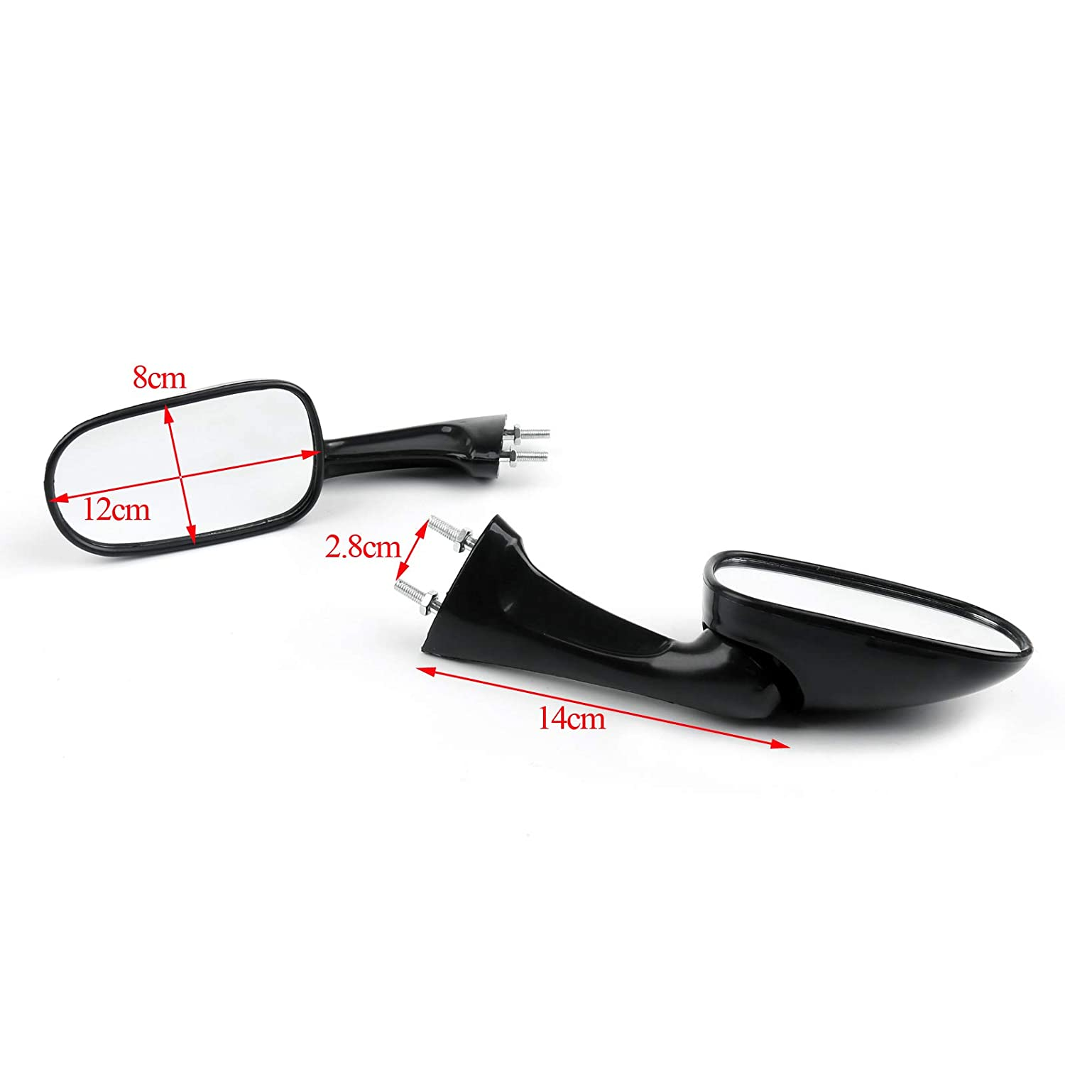 Motorbike Side Mirror Rearview Mirrors for HON-DA CBR250 19//22 CBR400 23//29 NSR250 Artudatech Motorcycle Rear View Mirror