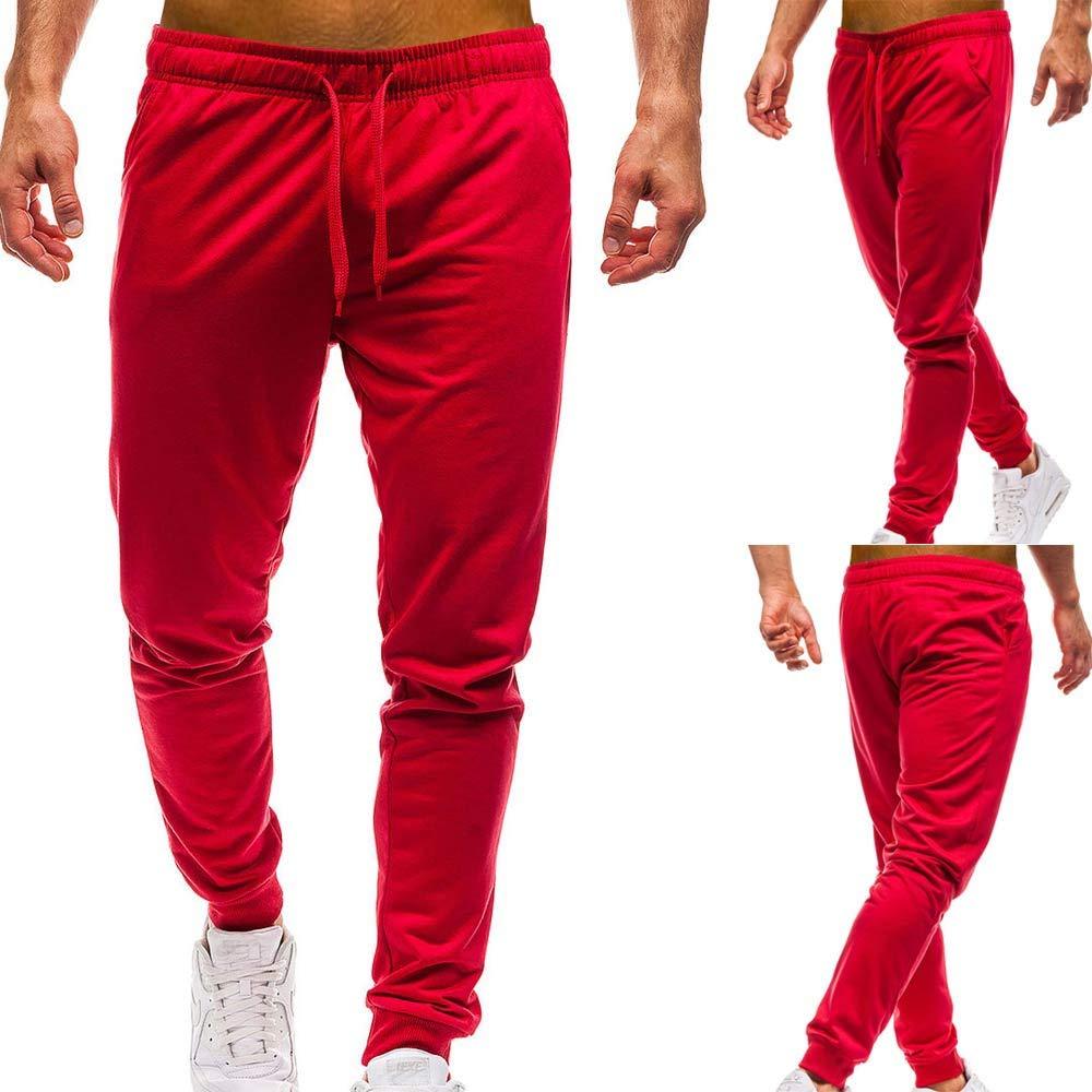 Pantalon Homme, Sonnena Pantalons de Sport Pantalon de Jogging Training Fitness 2018 Nouveau Automne Hiver Coton Mode Casual Couleur Pure en Vrac É lastique Sweat Pants