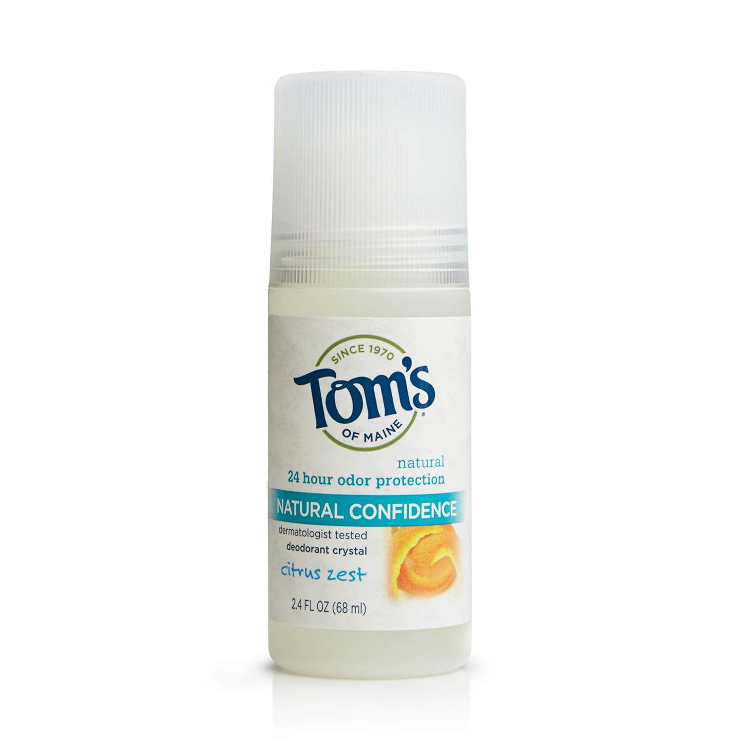 Tom's of Maine 683802 Natural Confidence Deodorant Crystal, Citrus Zest, 2.4 Ounce, 18 Count