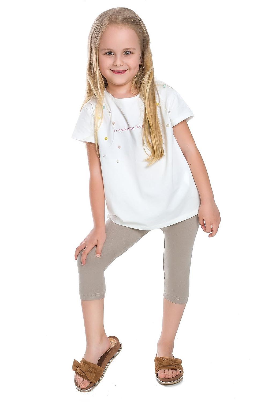 bba6b54081150 Amazon.com: Futuro Fashion Capri Girls Cotton Leggings Plain Colours Cropped  Pants Age 2-13: Clothing