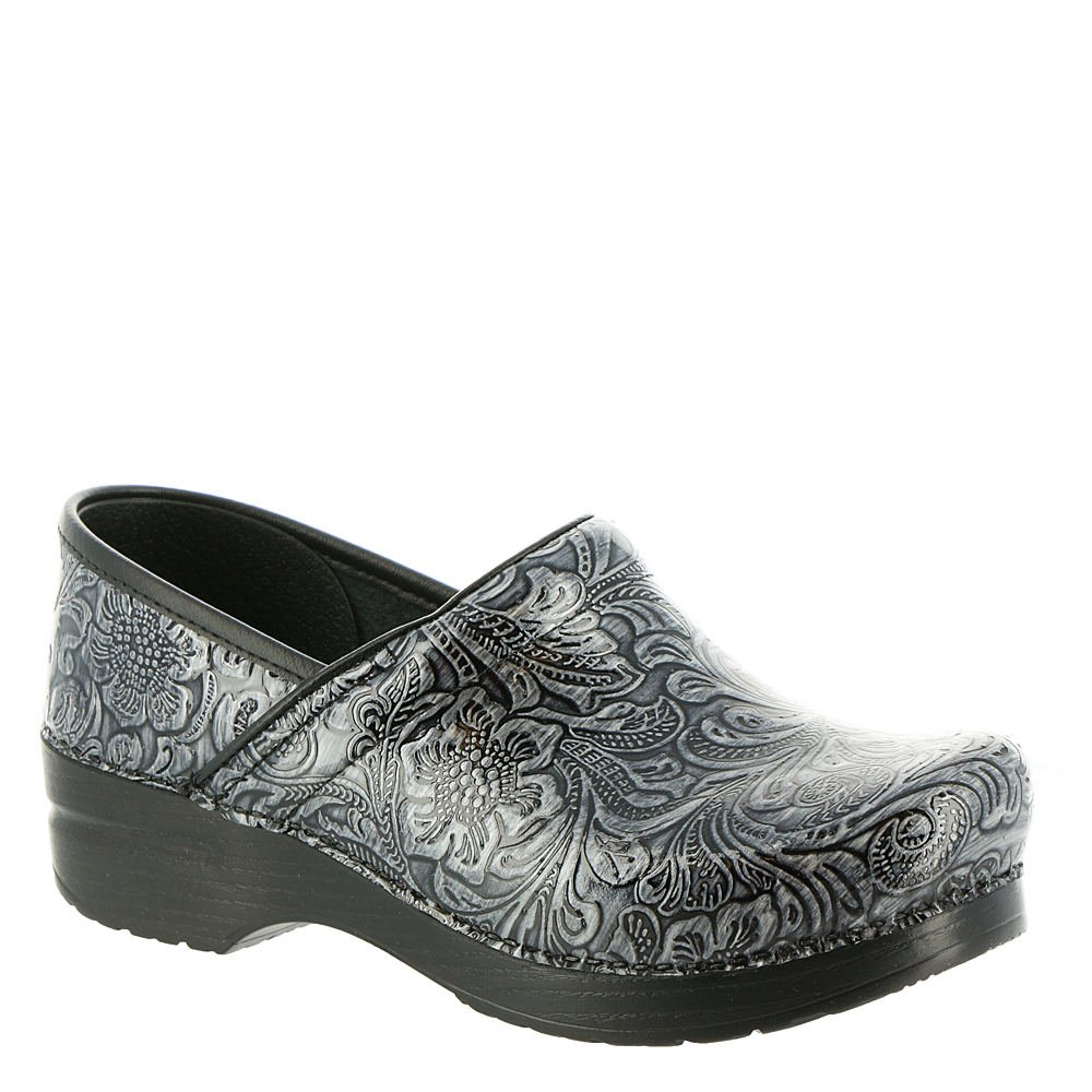 Dansko Women's Professional Clog, Grey Tooled Patent, 39 M EU (8.5-9 US)
