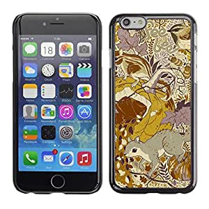 ka ka case unique design personality Floral Pattern Yellow Mustard Vintage -iPhone 6 Plus 5.5