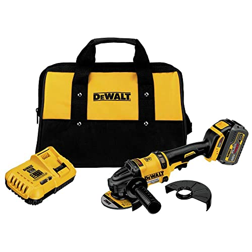 Dewalt DCG414T1R 60V MAX Cordless Lithium-Ion 4-1 2 in. – 6 in. Grinder with FlexVolt Battery Renewed