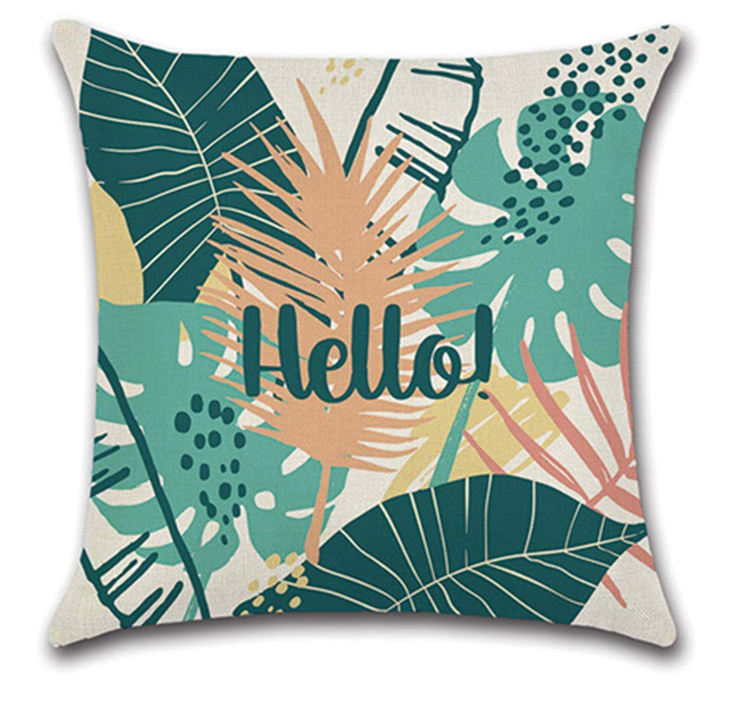 African Pillow Covers, 45 x 45cm JUMUU Set of 4 Cotton-Linen Decorative Throw Pillow Covers African Pattern Cotton Linen Home Decorative Throw Pillow Case Sofa Cushion Cover