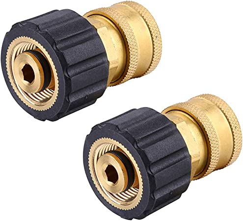 """4-pk 3//8/"""" Pressure Washer Hose Female Quick Disconnects"""
