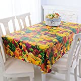 PVC table cloth/ round/Water from wash oil cloth/ round table/ oil-proof round tablecloth-I 90x137cm(35x54inch)