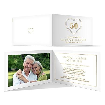 80 X Goldene Hochzeit Einladungskarten Hochzeitseinladungen