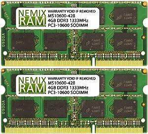 8GB 2X4GB NEMIX RAM Memory for Apple iMac Mid & Late 2011