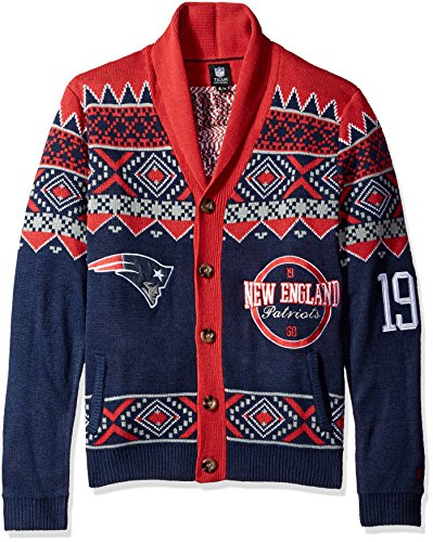 - New England Patriots 2015 Ugly Cardigan Extra Large