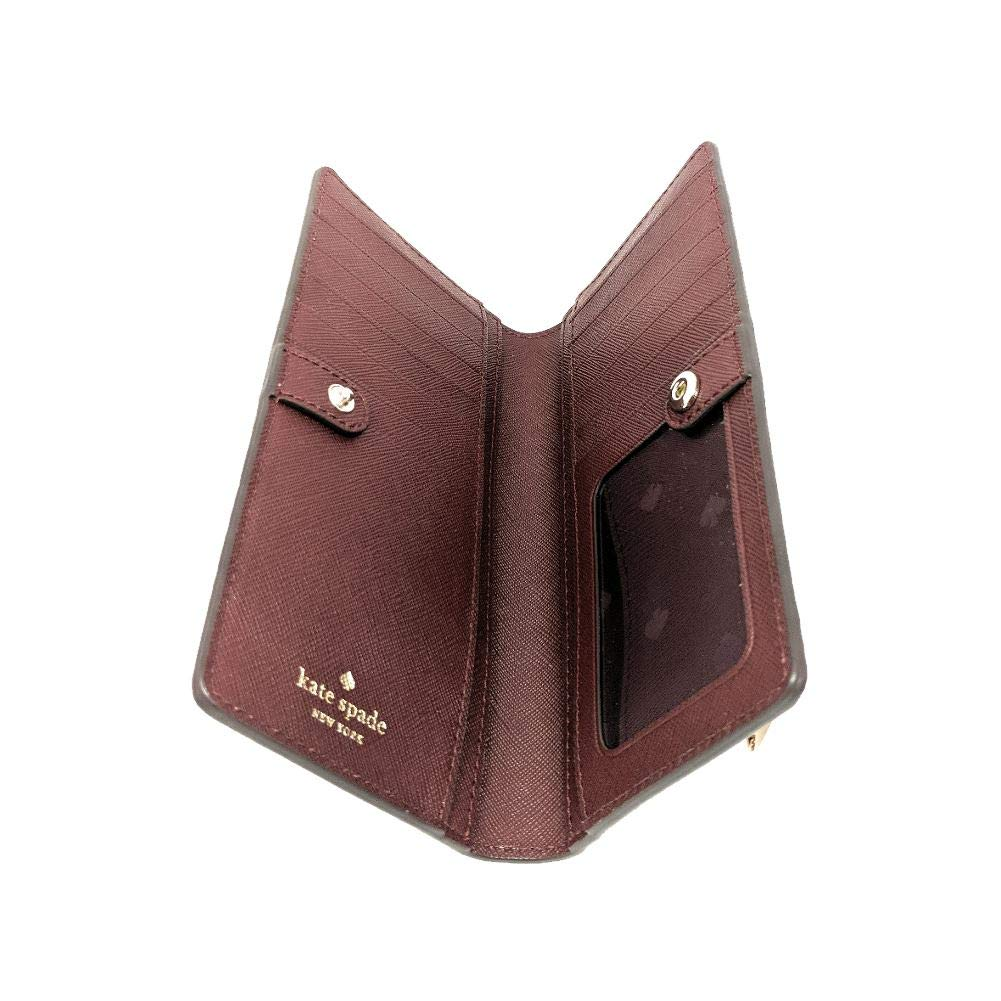 Kate Spade New York Eva Large Slim Bifold Wallet Rosy Cheeks