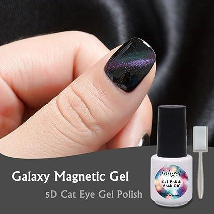 Joligel Esmalte Gel Magnético Efecto 5D Láser Multicolor Galaxia, Esmaltes Permanentes Uñas Gel Semipermanente UV