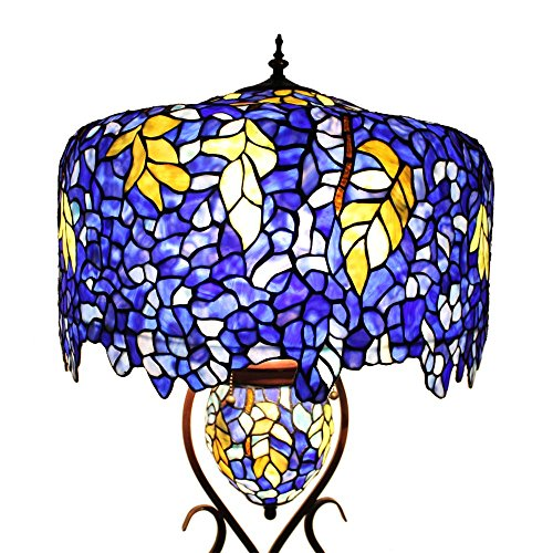 Bieye L10581 20-inches Wisteria Tiffany Style Stained Glass