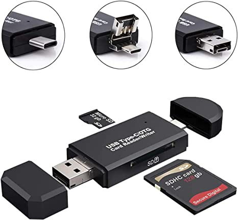 Lector de Tarjetas USB Tipo C, Lector de Tarjetas SD/Micro SD ...