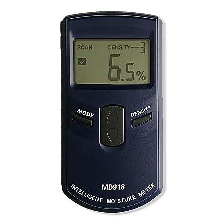 AMTAST Intelligent Moisture Meter Digital Lumber Moisture Detector Pinless Wood Moisture Tester, Measure Range 4 80 RH, Resolution 0.5