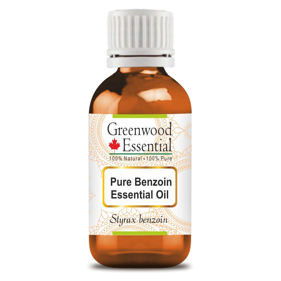 Greenwood Essential Pure Benzoin Essential Oil (Styrax Benzoin)100% Natural Therapeutic Grade Steam Distilled 50ml (1.69 oz)