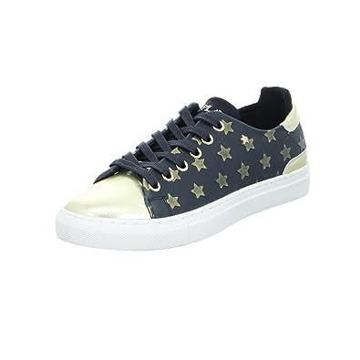 39cf2659169a13 Replay GWZ79 Damen Sneaker Halbschuh Sterne schwarz (black platinum ...