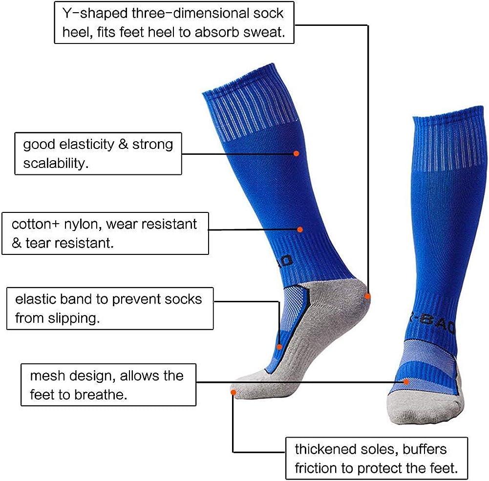 EQLEF Chaussettes de football pour enfants longues et confortables Chaussettes de football respirantes /él/égantes pour gar/çons et filles de 6 /à 10 ans