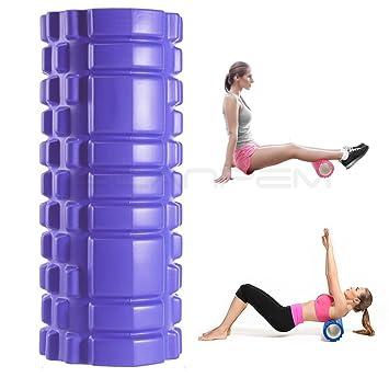 Yoga rodillo masaje muscular: Mace Stick hueca Yoga Pilar ...