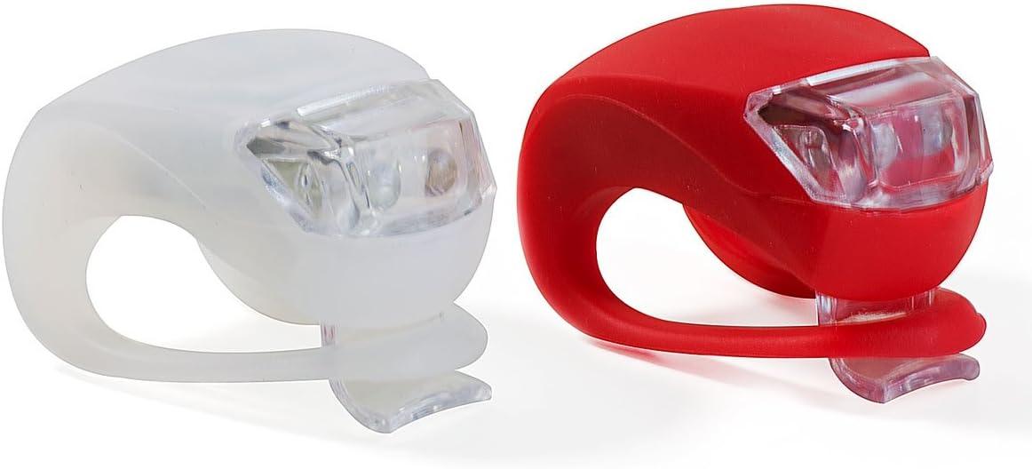 VeloChampion Quick Fix Juego de Luces para Bicicleta de fijacion rapida Luces de Silicona - Bike Lights