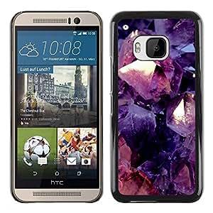 Paccase / SLIM PC / Aliminium Casa Carcasa Funda Case Cover para - Purple Red Floral Abstract Black - HTC One M9