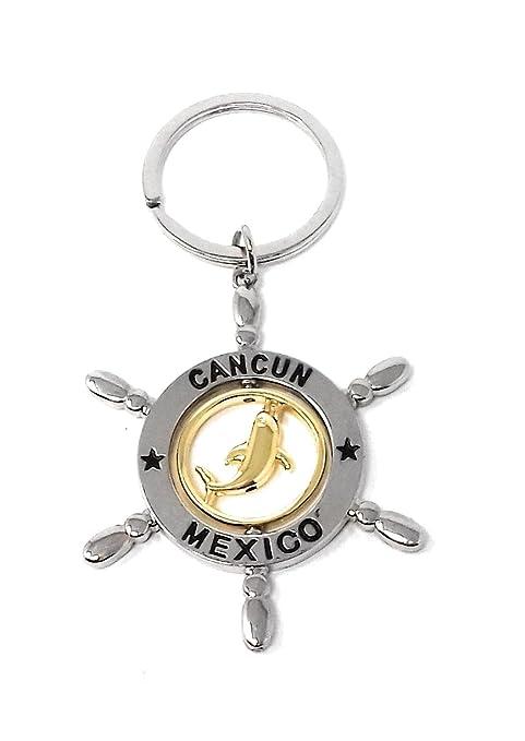 Llavero Con Forma de Timón de Barco, con un Delfín Giratorio ...