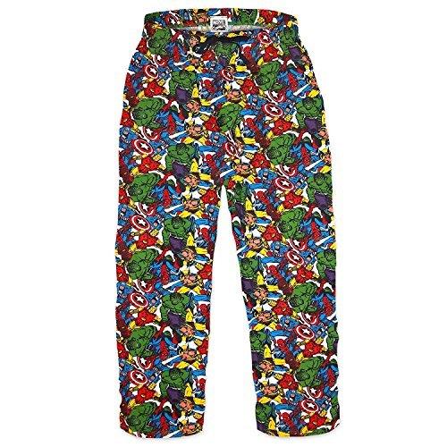 MARVEL COMICS - Superhéroes - Hombre Oficial Pantalones de andar por casa (Pantalón De Pijama