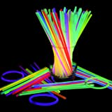 Lifbeier Light Up Toys Glowsticks 50 Pieces, Lumisticks with Connectors Make Tons of Glow Necklaces and Glow Bracelets