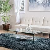 Great Deal Furniture Charlize Glass Coffee Table